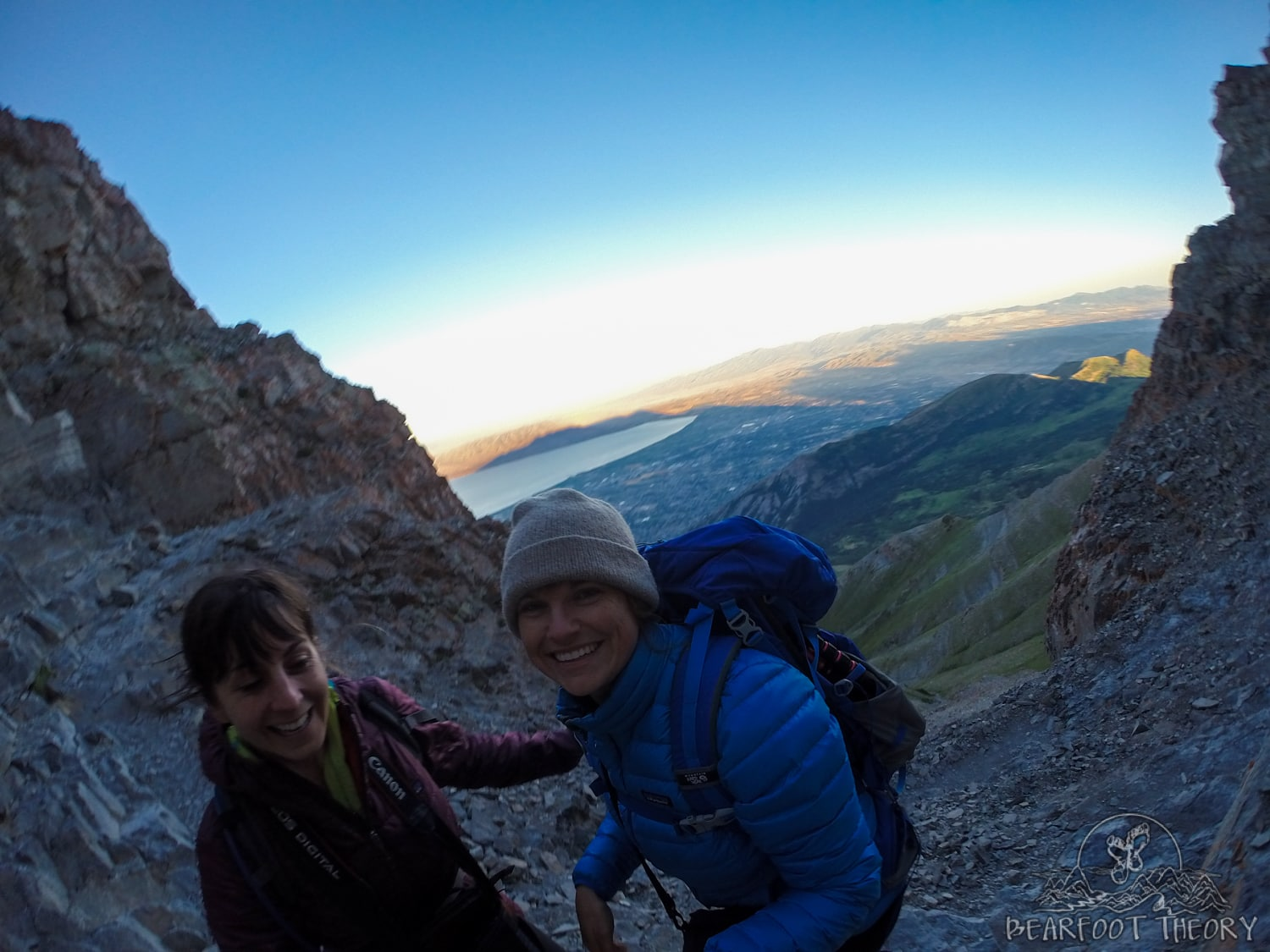 Hiking to the summit of Mount Timpanogos
