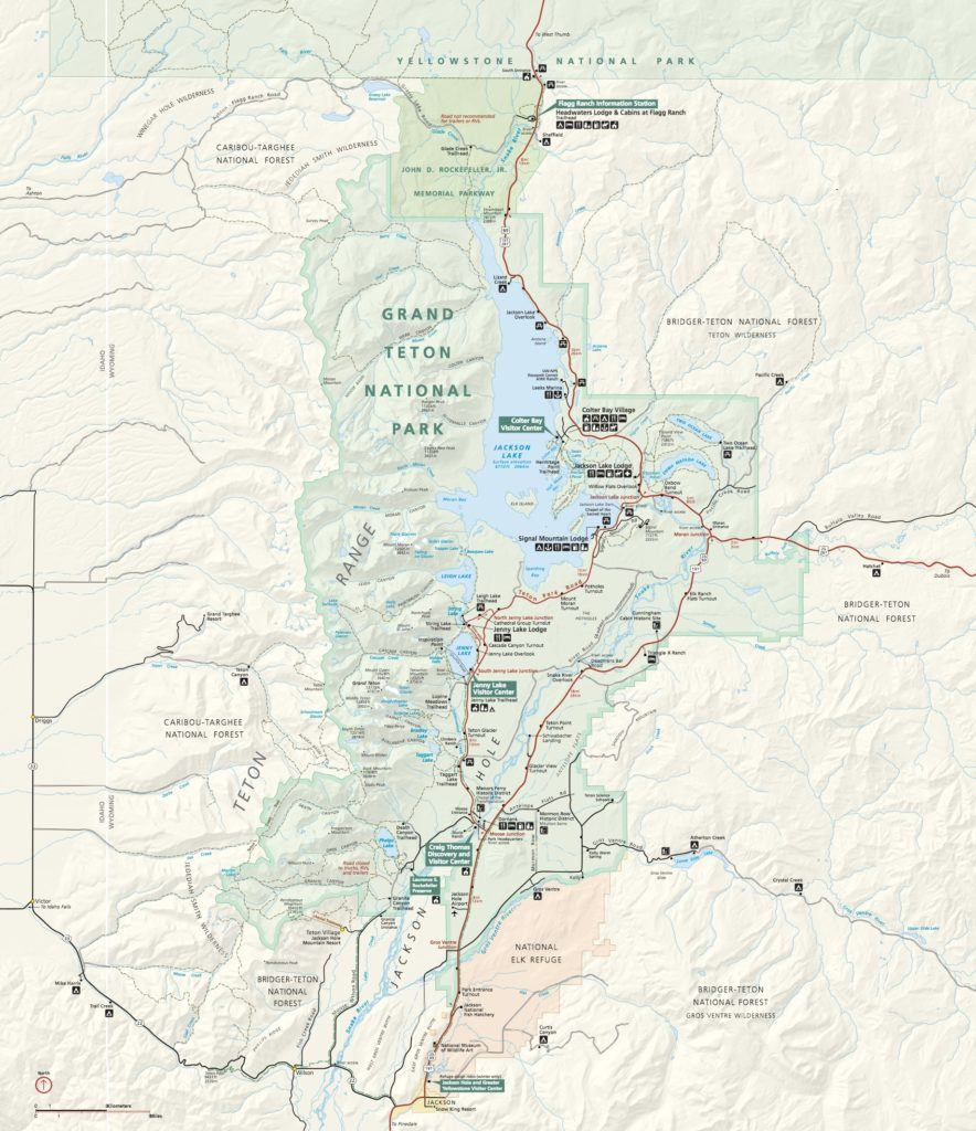 Grand Teton National Park Map // Follow this detailed 7-day Teton and Yellowstone road trip itinerary to travel to the best sites, hikes, and attractions.