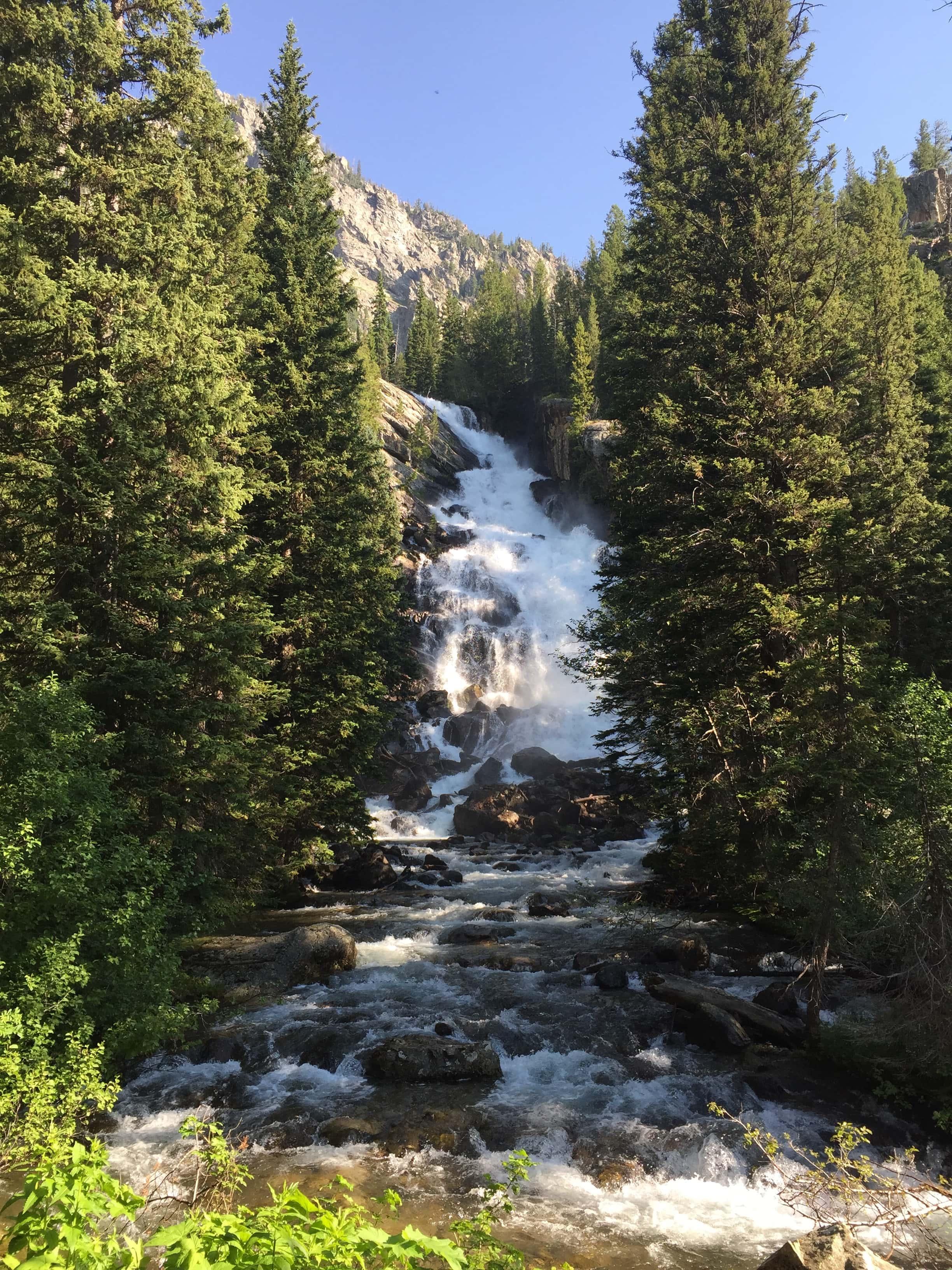 Hidden Falls // 7 Day Road Trip Itinerary through Grand Teton and Yellowstone National Park.