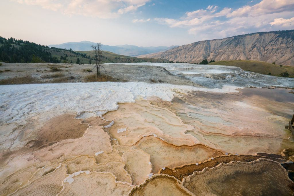 Mammoth Hot Springs / When planning a trip to Yellowstone, be sure to stop here