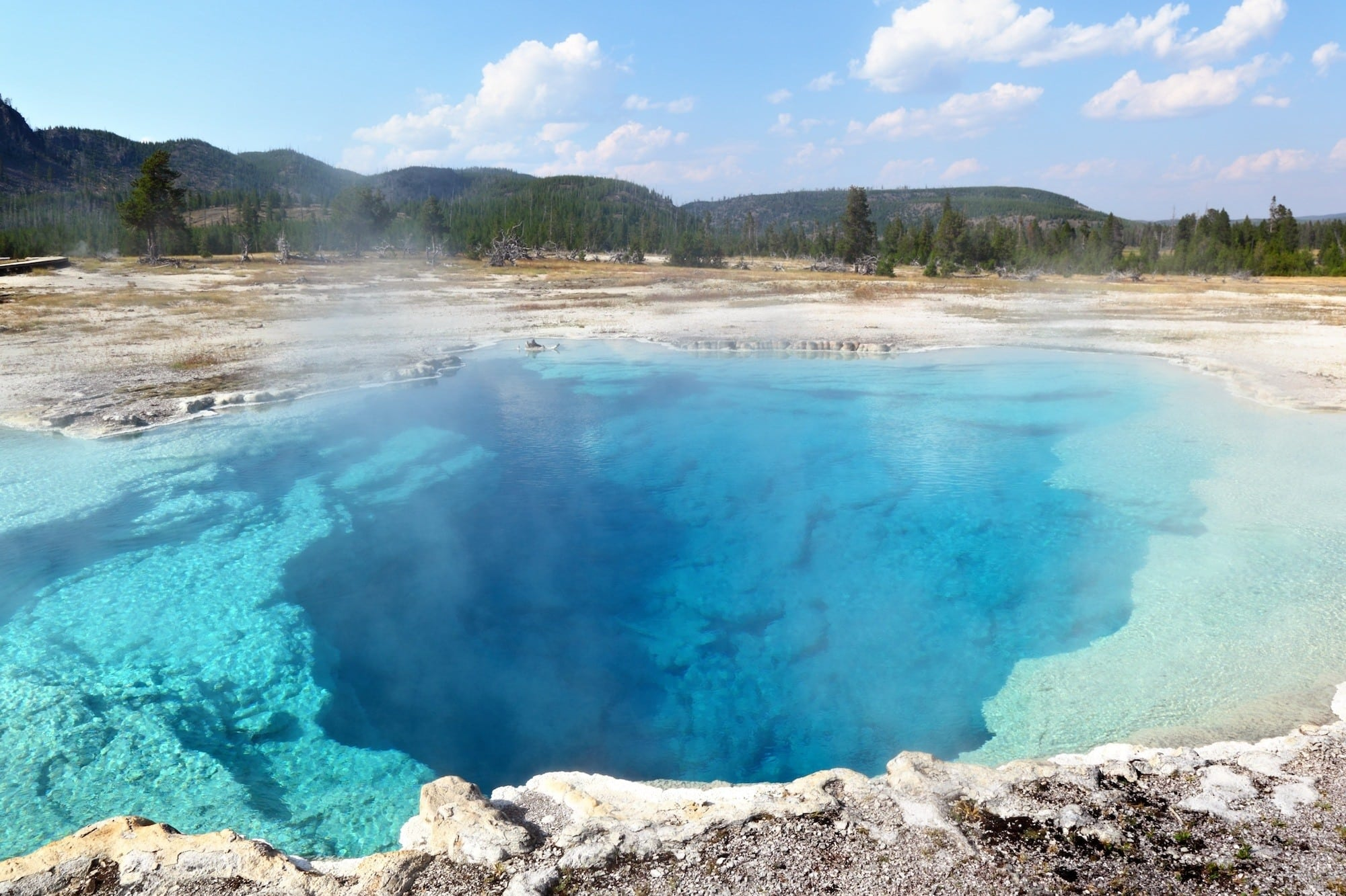 Upper Geyser Basin // Follow this detailed 7-day Teton and Yellowstone road trip itinerary to travel to the best sites, hikes, and attractions in these two incredible national parks.