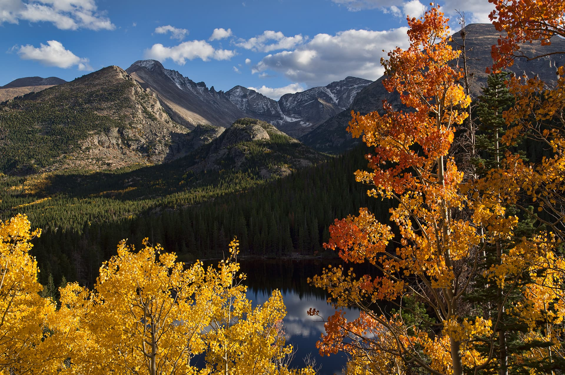 Fall at Bear Lake in Rocky Mountain National Park // Experience vibrant Colorado fall colors with this road trip itinerary that takes you through some of the best aspen groves in the state.