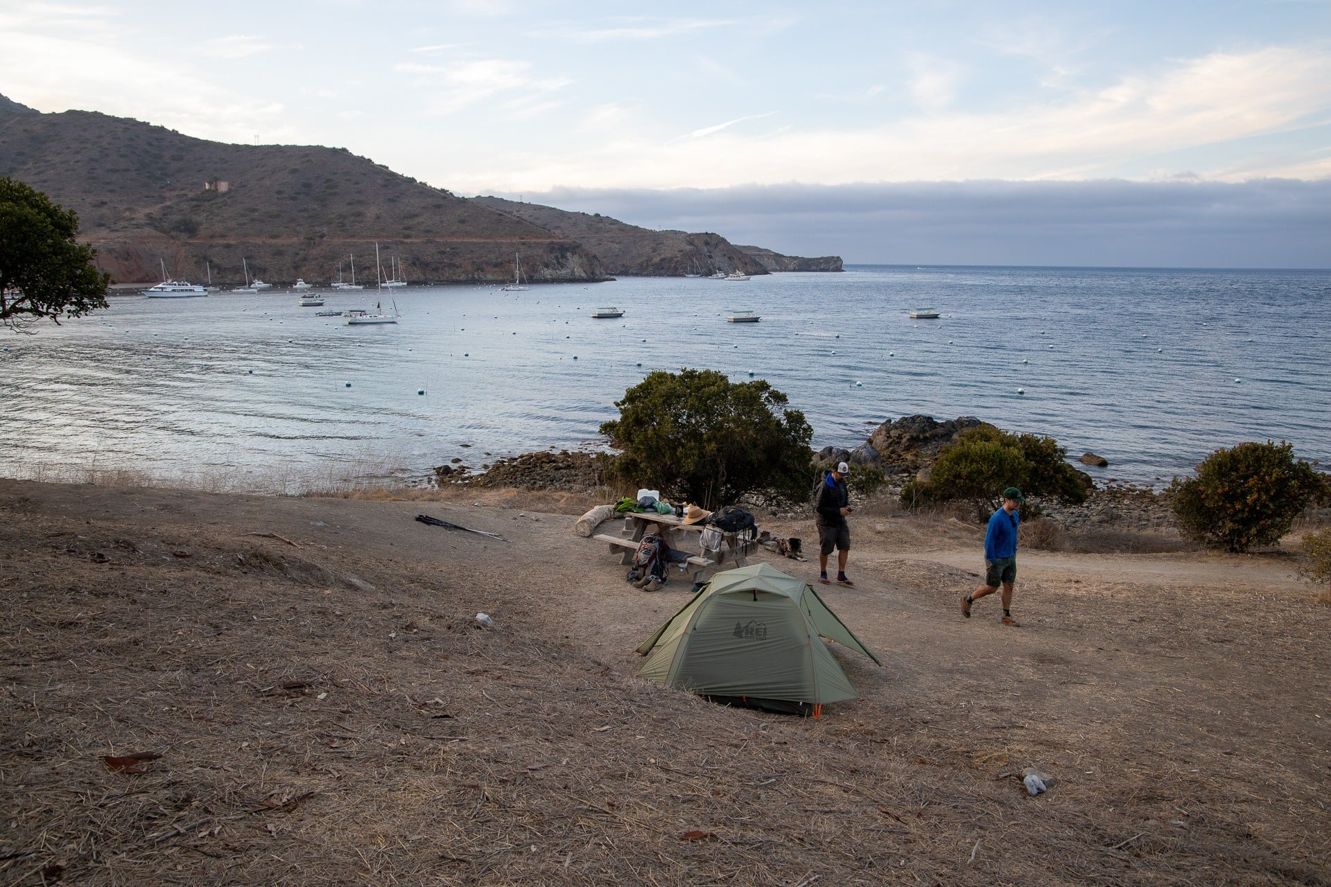 Two Harbors Campground // Plan a backpacking trip on the Trans-Catalina Trail on Catalina Island with this trail guide with tips on the best campsites, water availability, gear & more