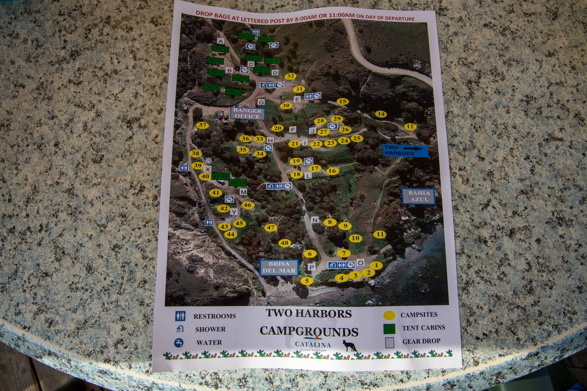 Two Harbors Campground Map Catalina Island