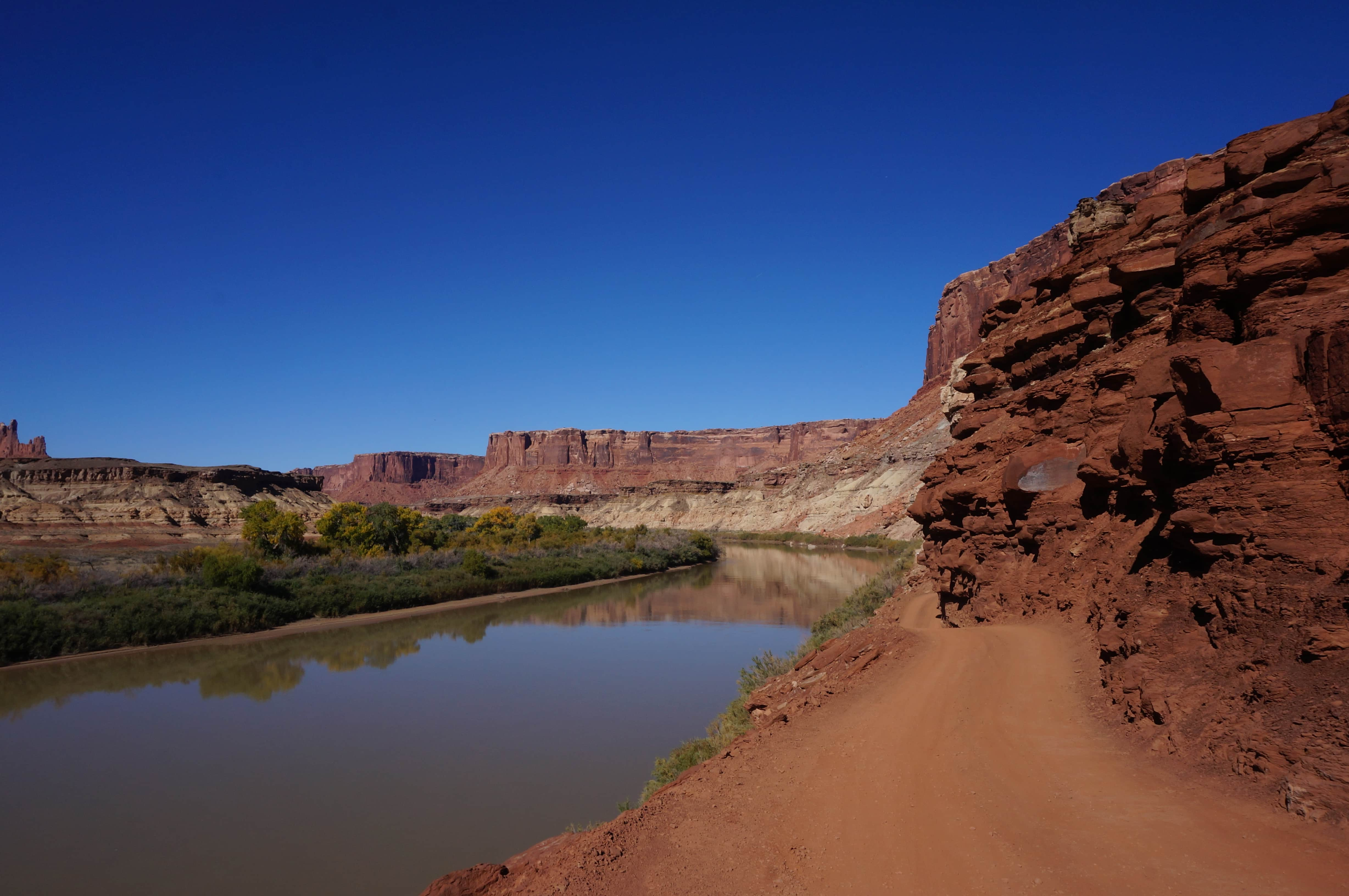 The Green River along the White Rim Trail in Canyonlands National Park