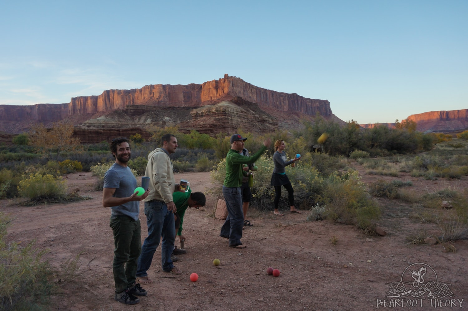 Bocce ball is one of my favorite games to play at camp