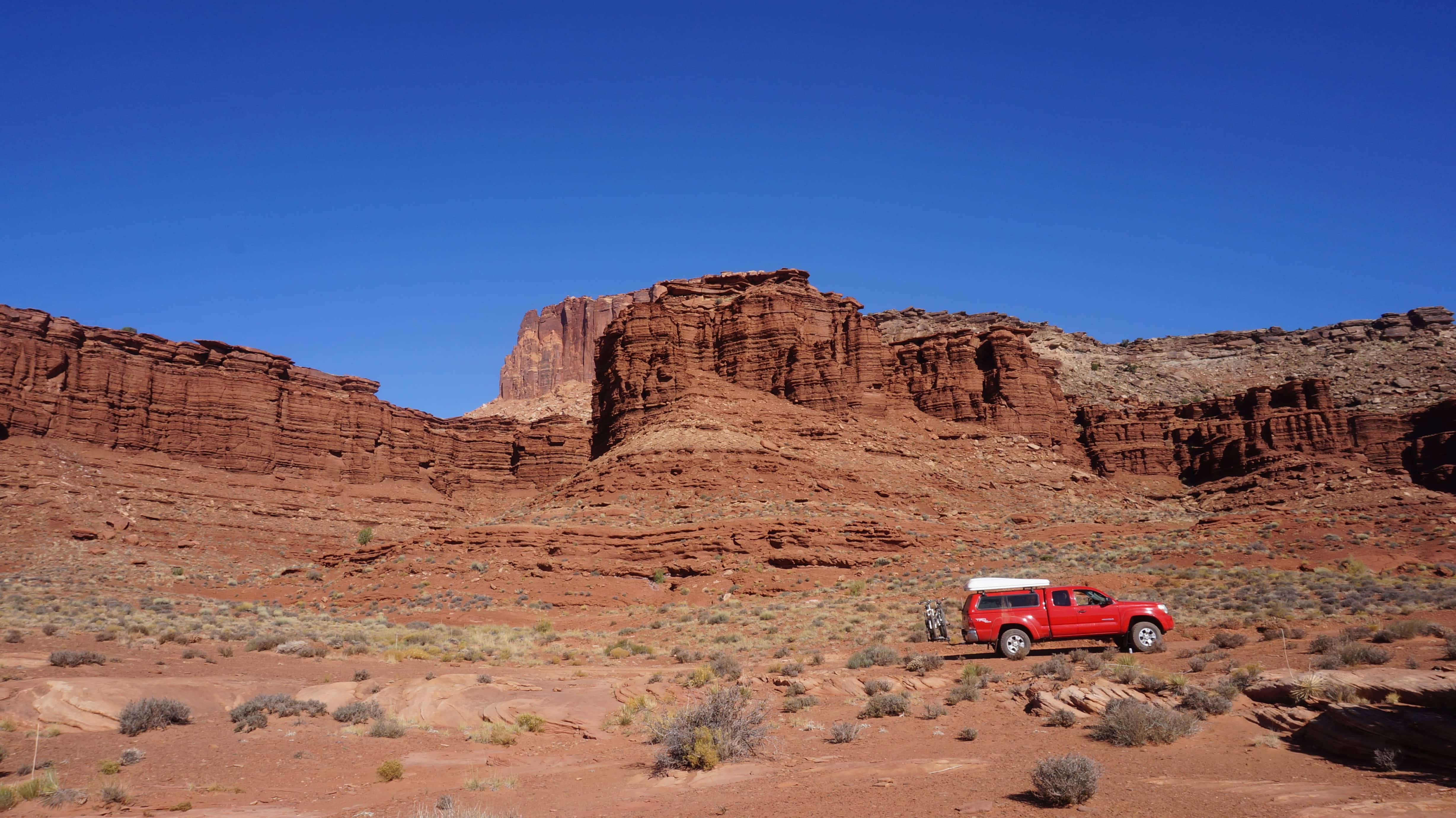 This was our support vehicle for our biking trip on the White Rim Trail in Canyonlands National Park