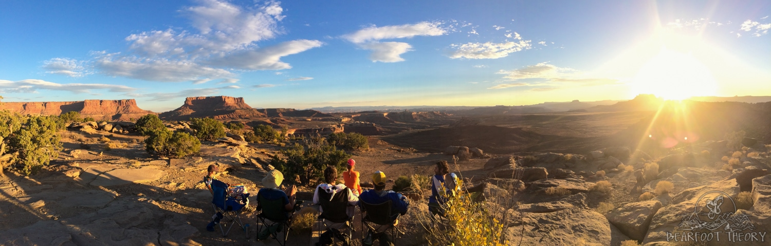 Murphy's Hogback Campsite on the White Rim Trail in Canyonlands National Park - the views from here were epic!