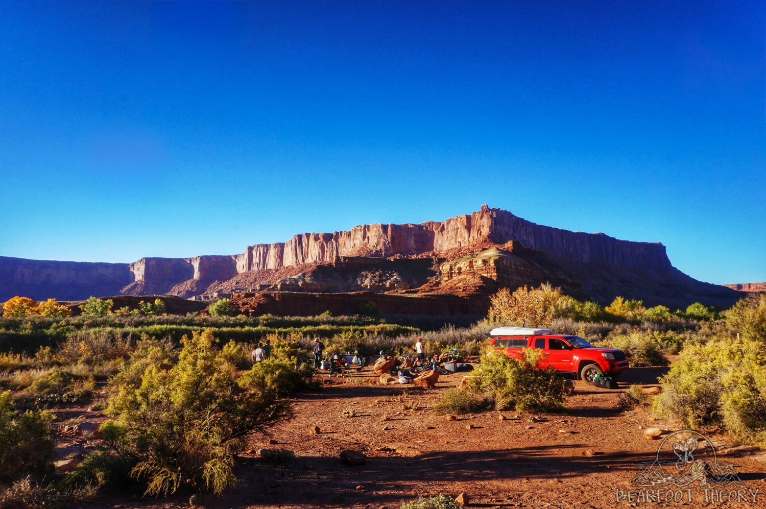 Potato Hollow Campsite on the White Rim Trail in Canyonlands National Park