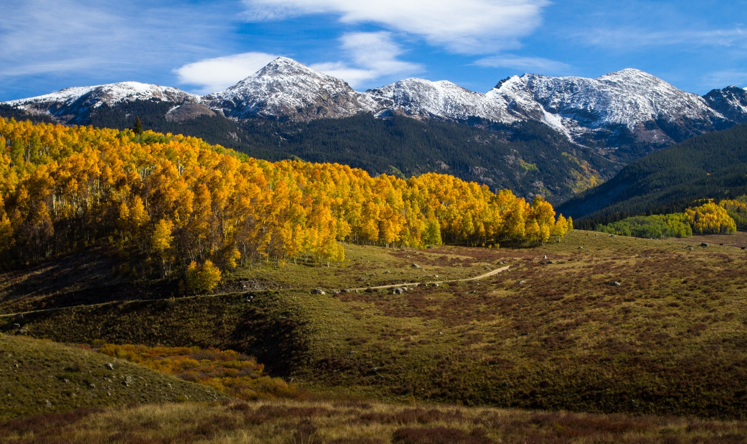 Lime Park // Experience vibrant fall Colorado colors with this road trip itinerary that takes you through some of the best aspen groves in the state.
