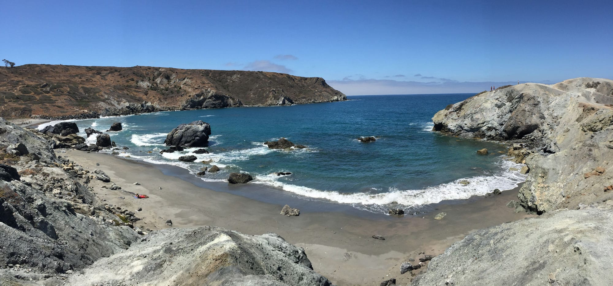 Shark Harbor on Catalina Island / Plan a backpacking trip on the Trans-Catalina Trail on Catalina Island with this trail guide with tips on the best campsites, water availability, gear & more