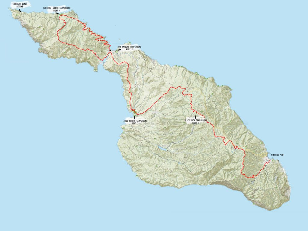 Trans Catalina Island Trail Map / Plan a backpacking trip on the Catalina Island Trans-Catalina Trail with this guide including the best campsites, gear, water, and more.