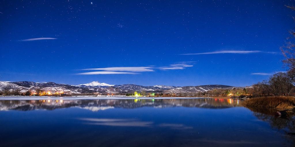 Amazing twilight photo of McCall Idaho