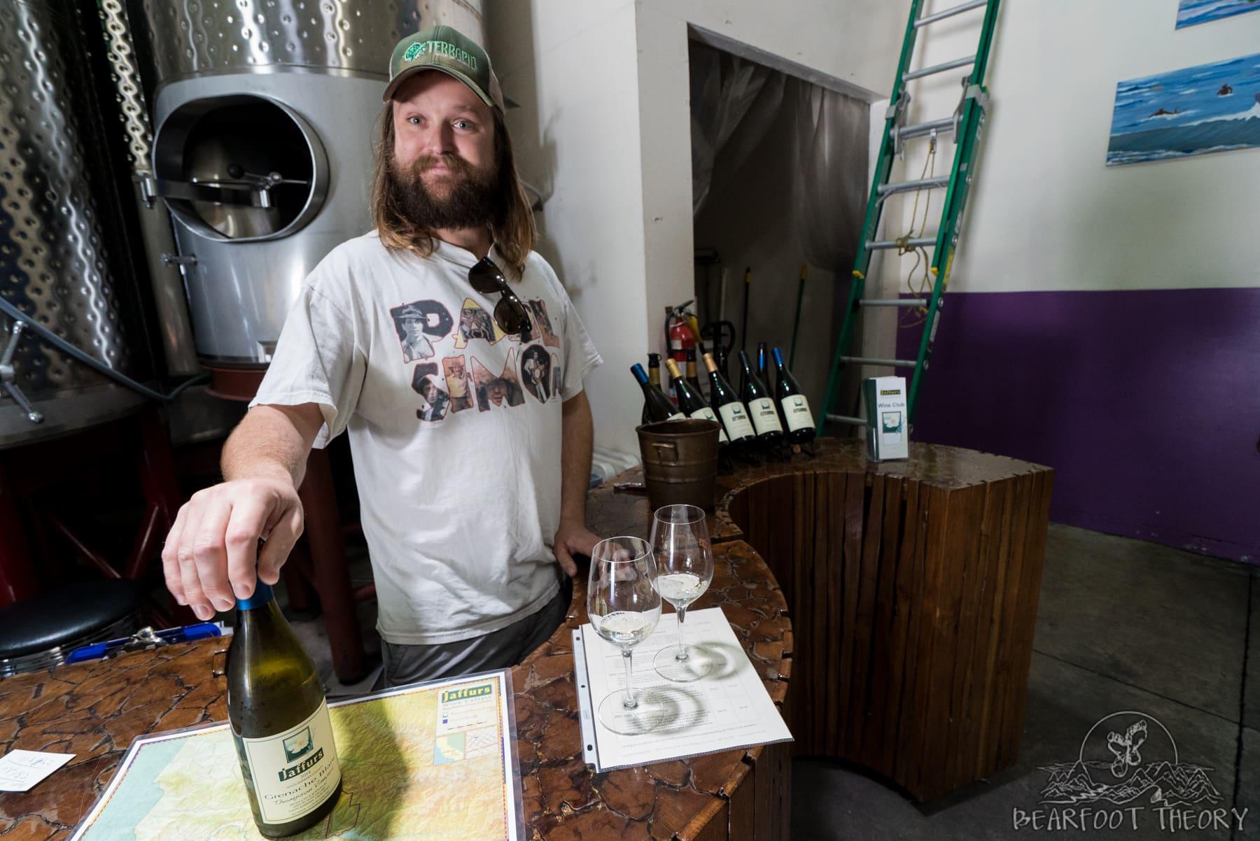 Matt Brady - The winemaker at Jaffurs Winery - One of my favorite stops on Santa Barbara's wine trail