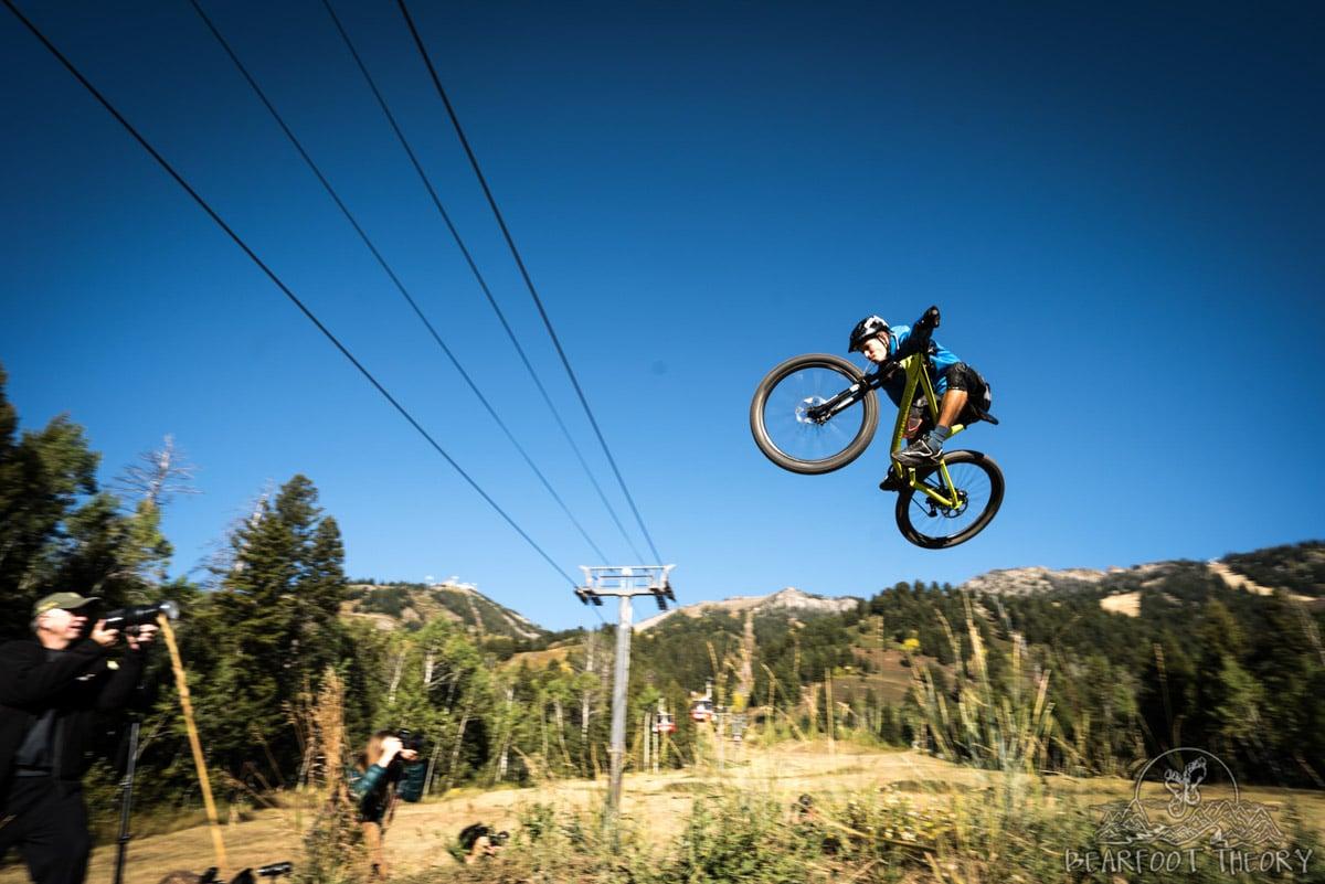 Mountain Biking photo shoot at Jackson Hole - Summit Series Adventure Photography Workshop in Jackson, Wyoming