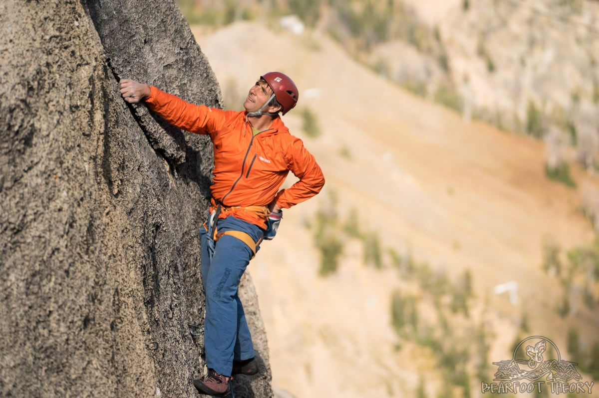 Learning how to take climbing photos as part of the Summit Series Adventure Photography Workshop at Jackson Hole Mountain Resort