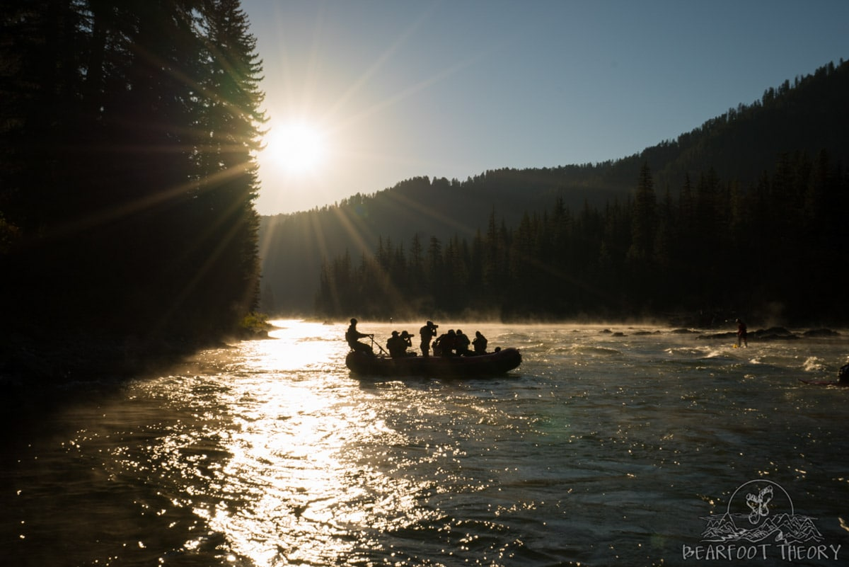 Learning how to take action shots on the Snake River as part of the Summit Series Adventure Photography Course in Jackson, Wyoming
