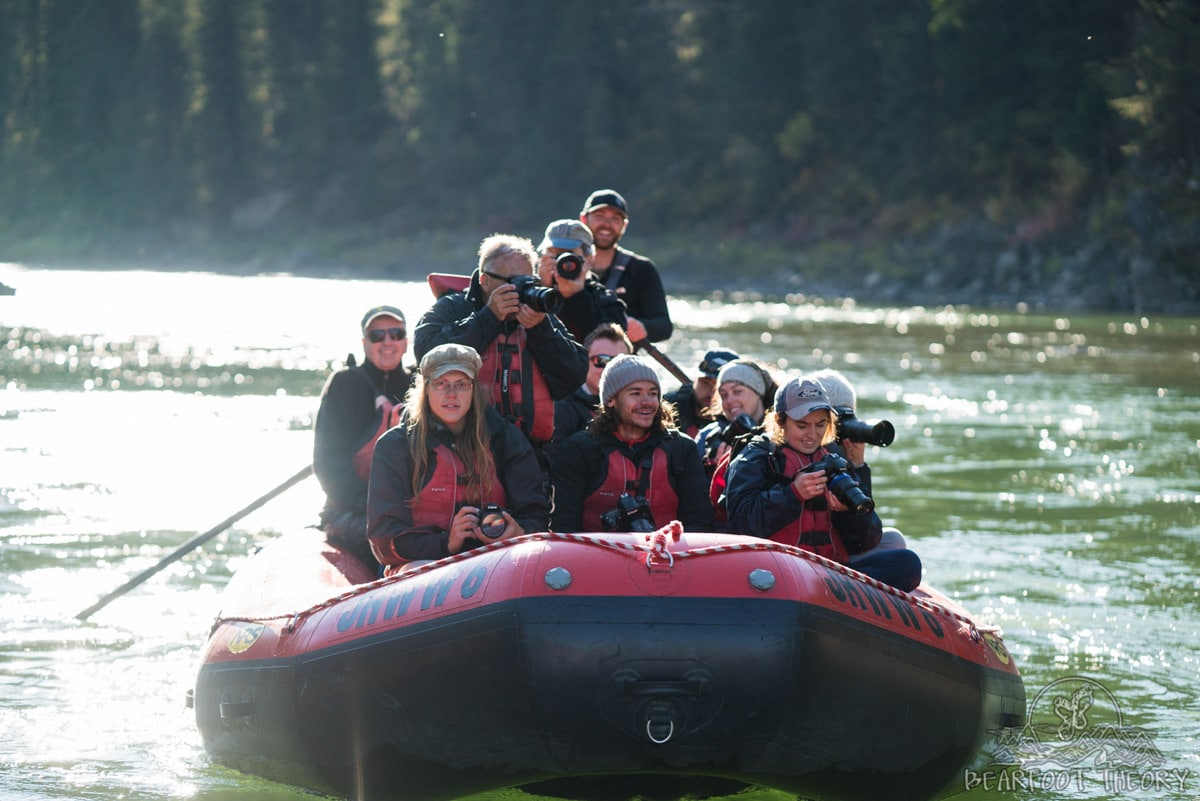 Learning how to take action photos on the Snake River as part of the Summit Series Adventure Photography Workshop at Jackson Hole Mountain Resort