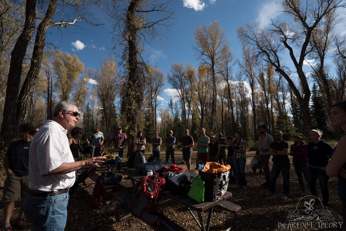 Learning how to take camping photos at the Gros Ventre campground as part of the Summit Series Adventure Photography Workshop at Jackson Hole Mountain Resort