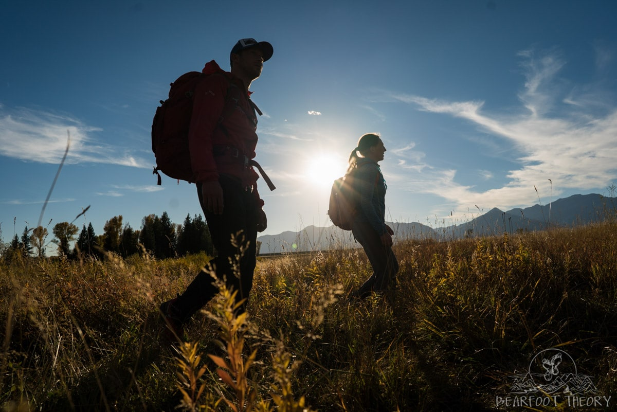 Learning how to take camping photos at the Gros Ventre campground as part of the Summit Series Adventure Photography Course in Jackson, Wyoming