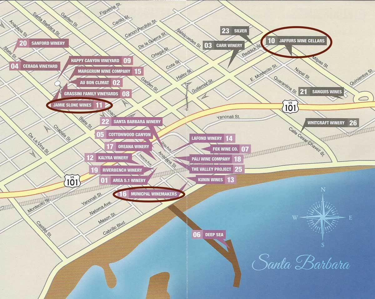 Santa Barbara Wine Trail Map