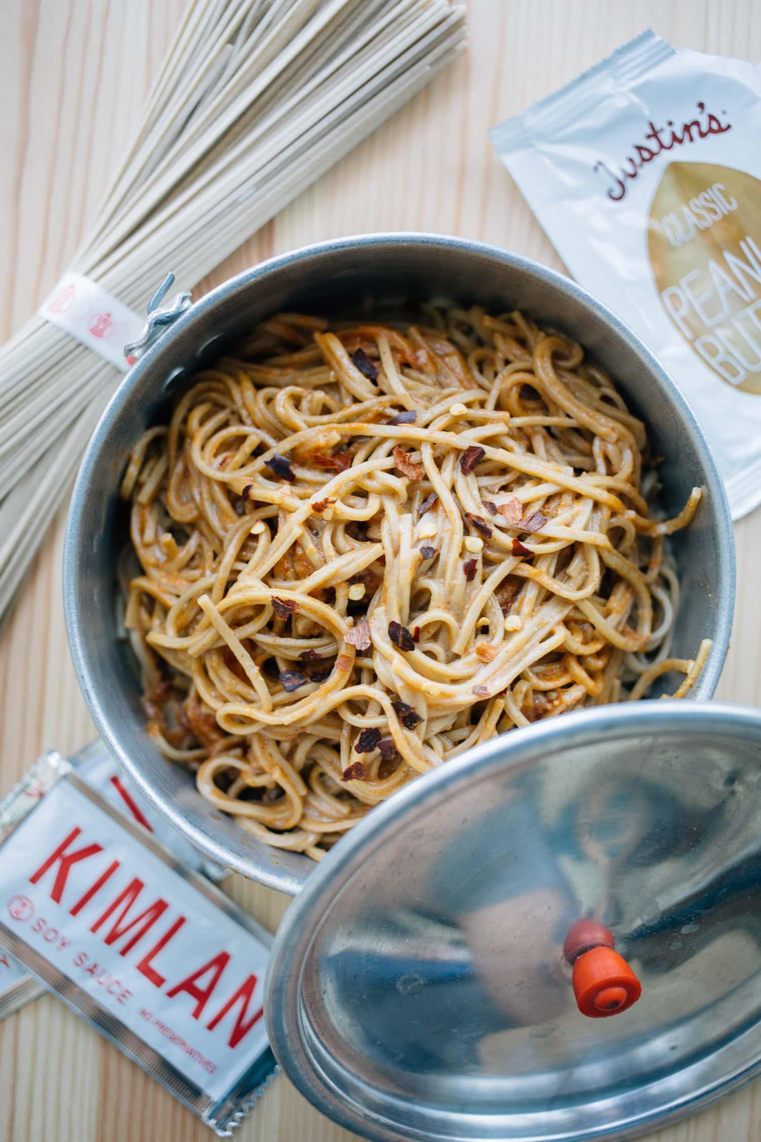 One-pot camping meals: Vegan Dan-dan noodle recipe