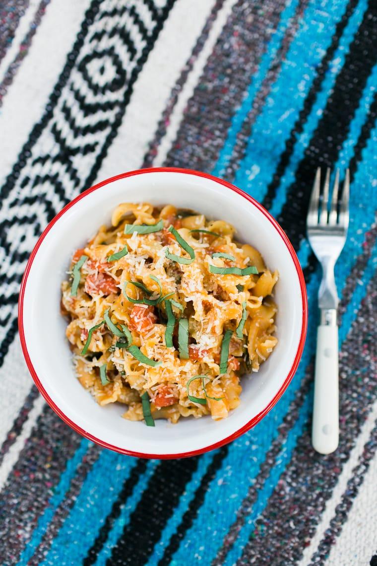 One-pot camping recipes: Classic one-pot pasta