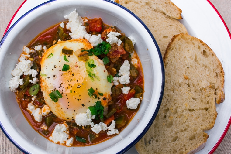 One-pot camping meals: Shakshuka Recipe