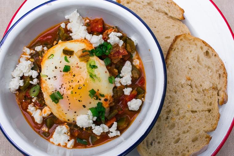 One-pot camping meals: Shakshuka Recipe