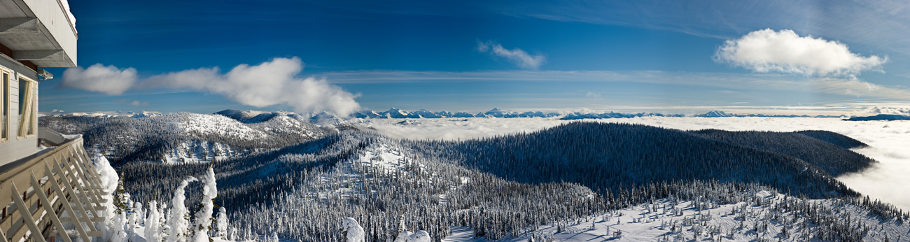 Whitefish sits in the heart of the Rockies, and the ski resort has big mountain views to match.