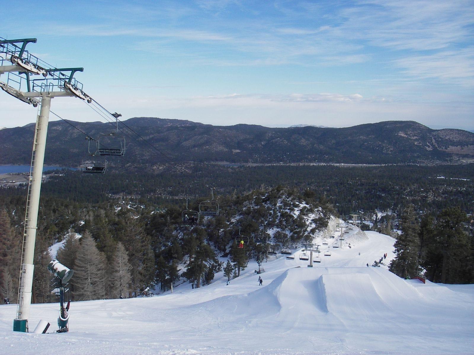 Easy terrain at Big Bear ski resort