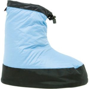Outdoor Adventure Gifts for the Road Tripper: Western Mountaineering Down Bootie - So comfy for lounging around camp (or the house)
