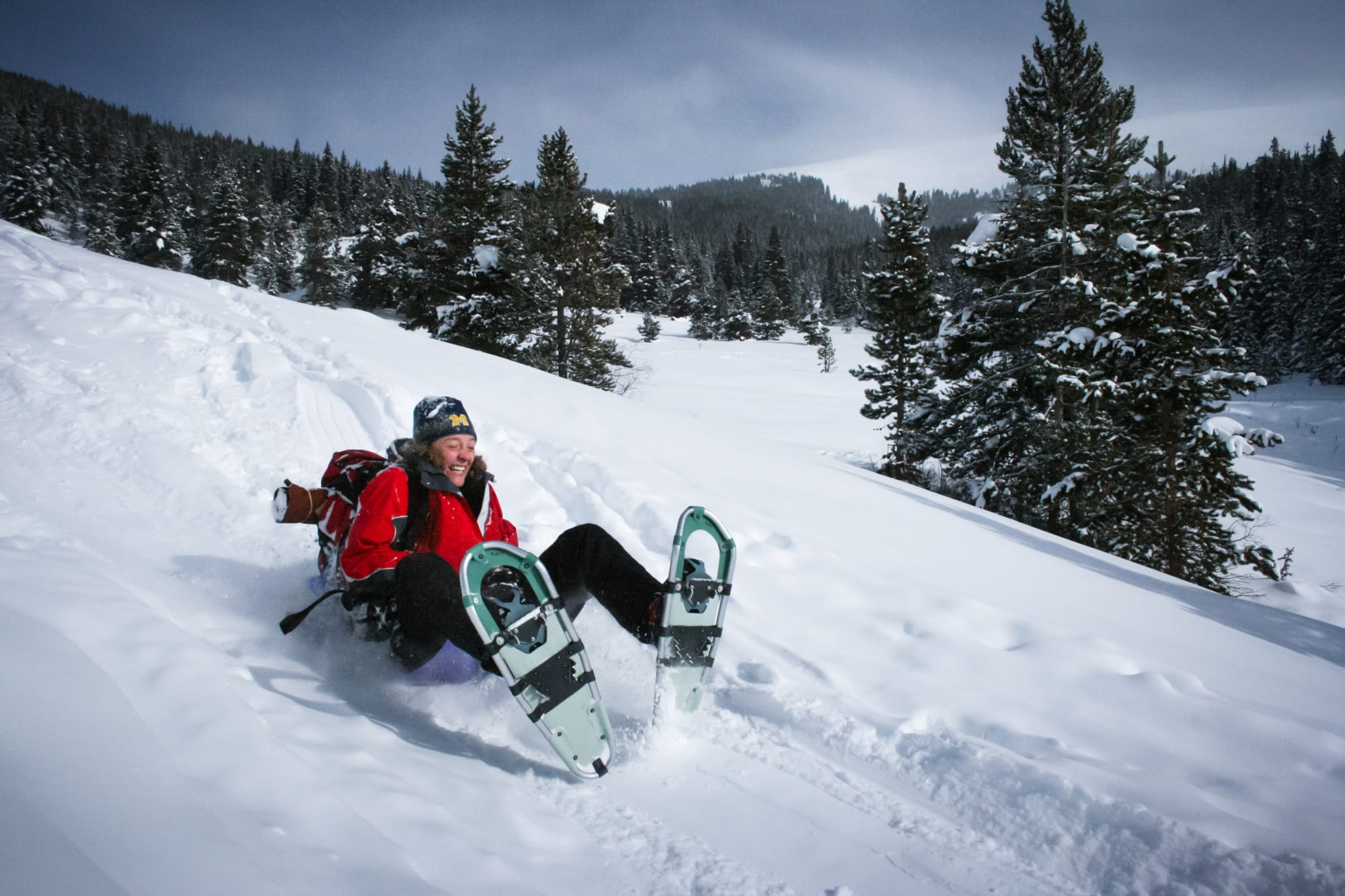 Reasons to take a backcountry hut trip - #11: Backcountry sledding