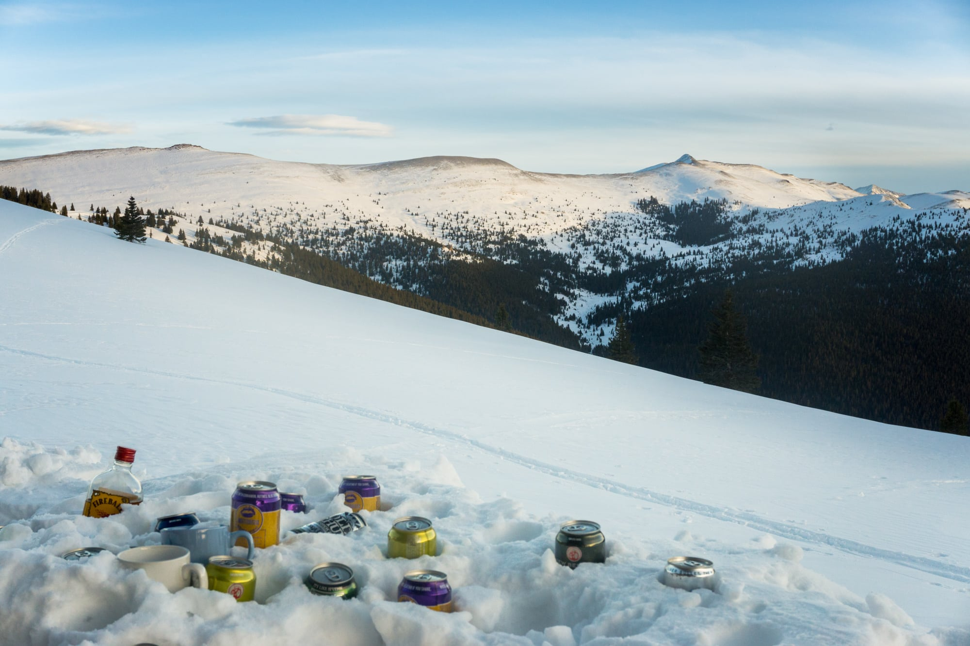 Reasons to take a backcountry hut trip - #12 - Backcountry beer coolers