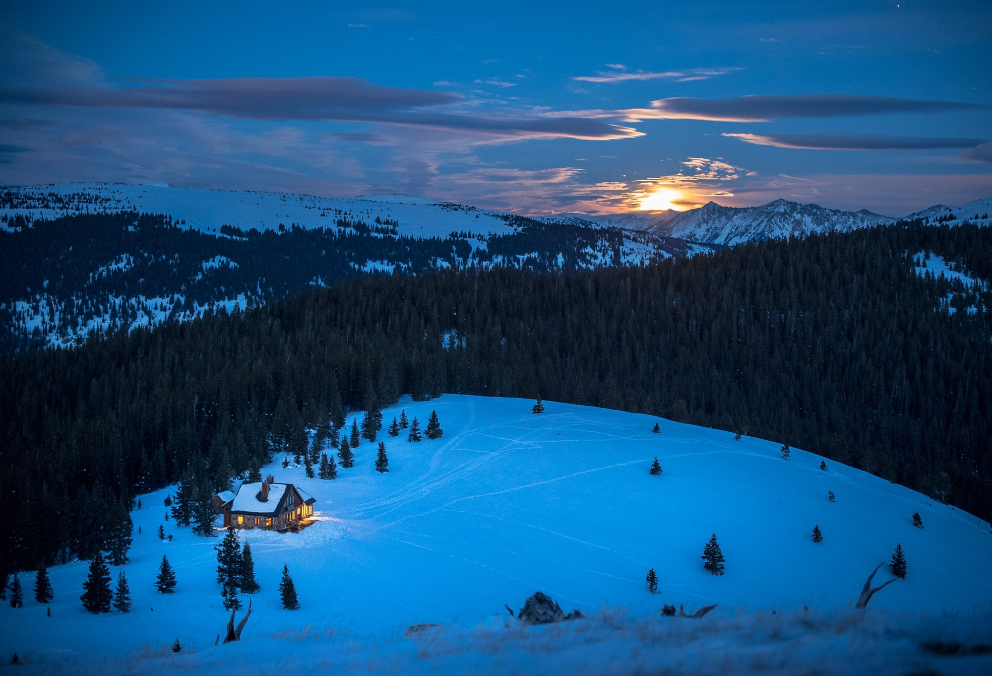 Reasons to take a backcountry hut trip: #3: Ski in , ski out access for less than the cost of a lift ticket