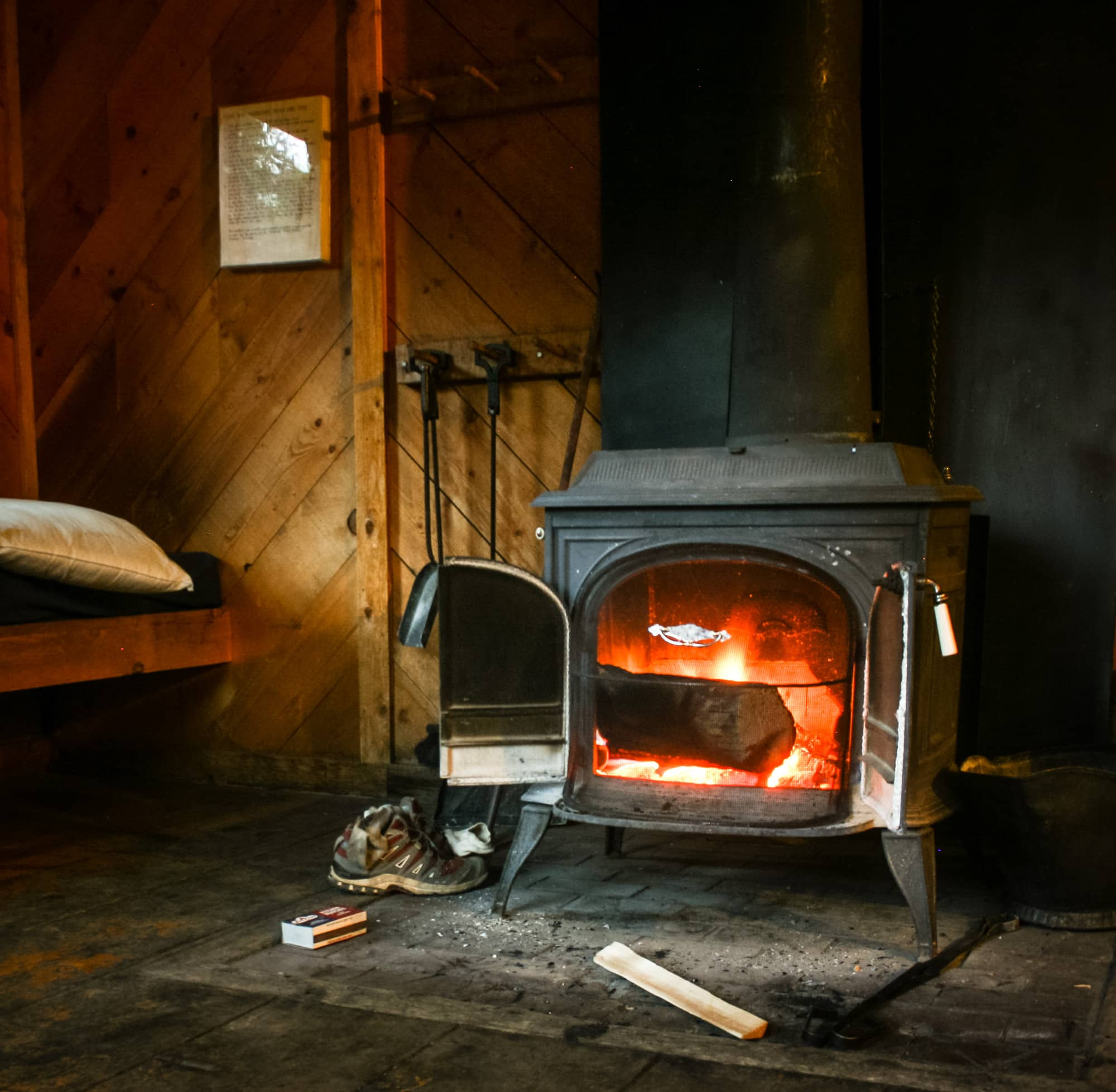 Reasons to take a backcountry hut trip - #8 - wood fires are the best