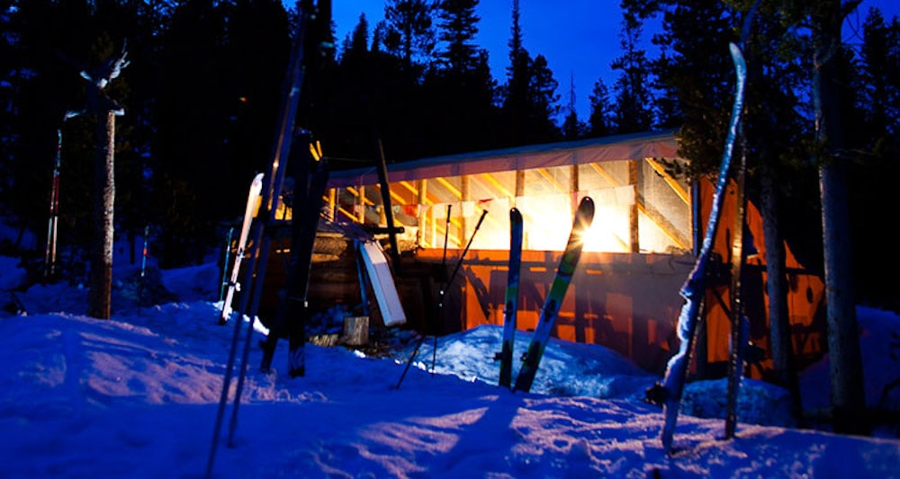 Things to do in Idaho during Winter besides skiing: Go on a backcountry hut trip