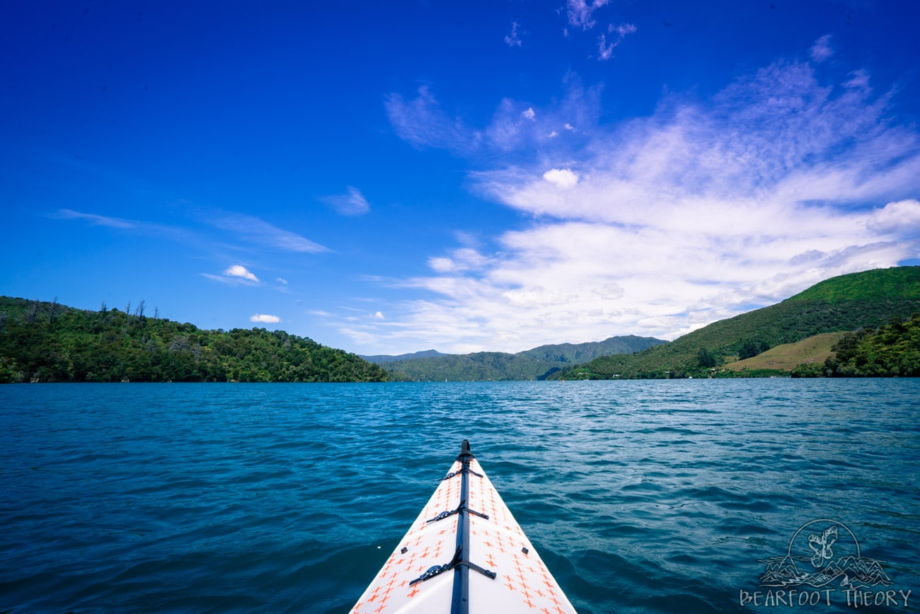 New Zealand Road Trip Itinerary: Using my Oru Kayak on Queen Charlotte Sound at Mistletoe Bay