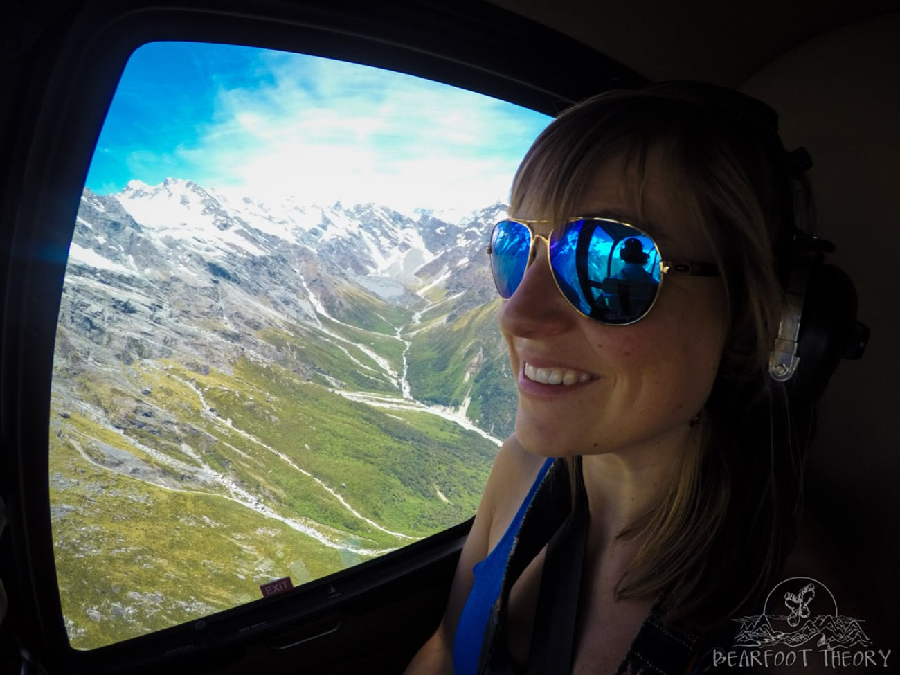 New Zealand Trip: Week 3 Highlights and Itinerary - riding in a helicopter with Glacier Country Scenic Flights