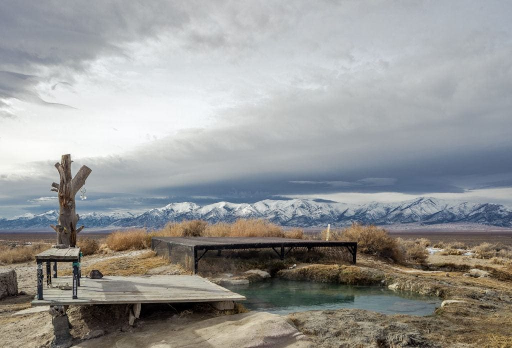 Spencer Hot Springs // Check the map, grab your (birthday) suit, and head to one of these best hot springs in Nevada for the ultimate natural soak.