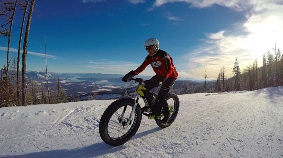 Things to do in Idaho during Winter besides skiing: Fat biking!