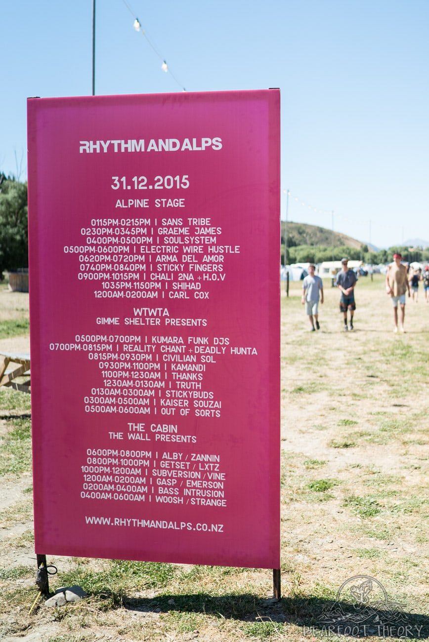 The Rhythm and Alps festival in Wanaka New Zealand on New Years Eve