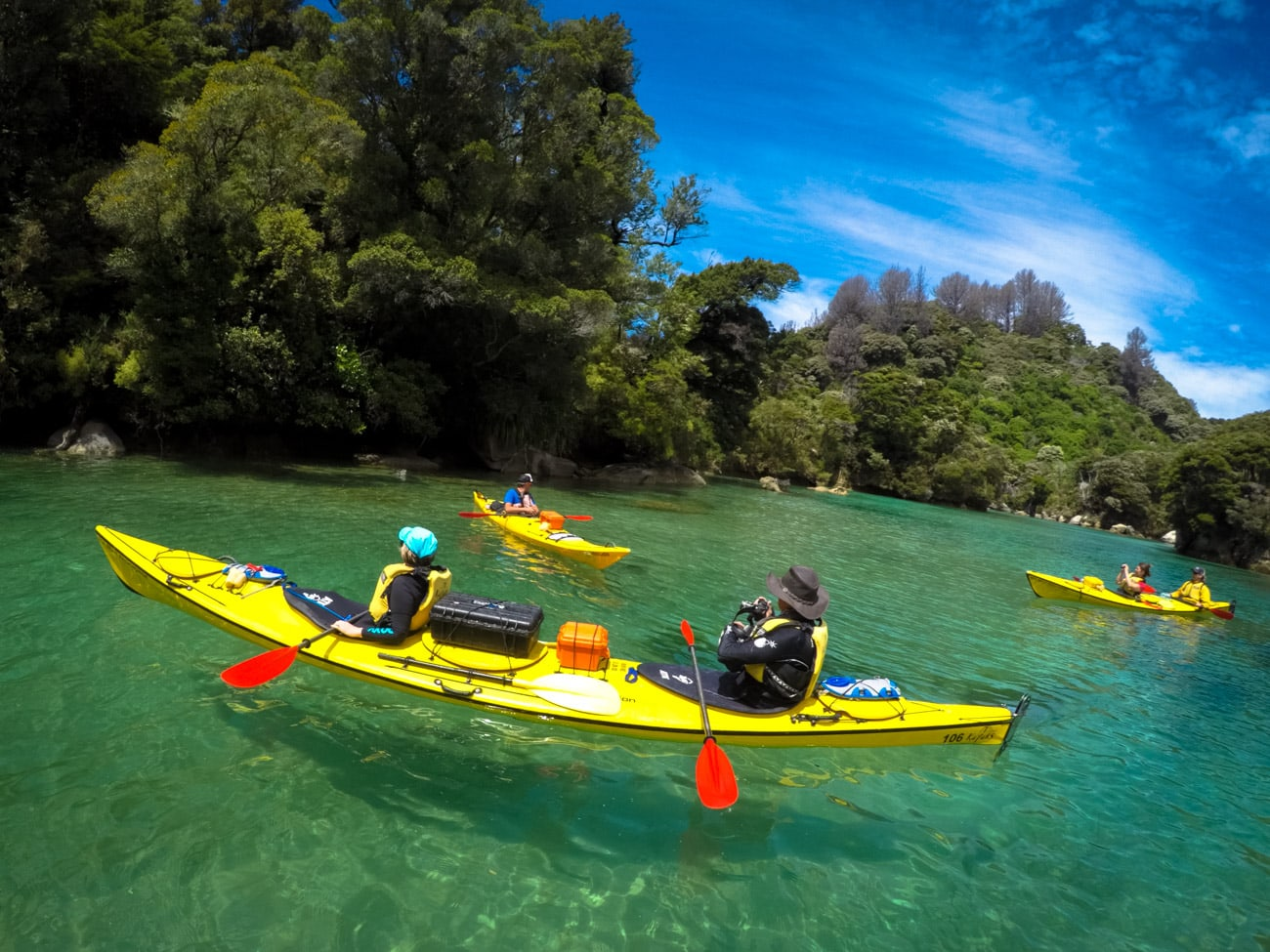 Secret lagoon in Abel Tasman National Park