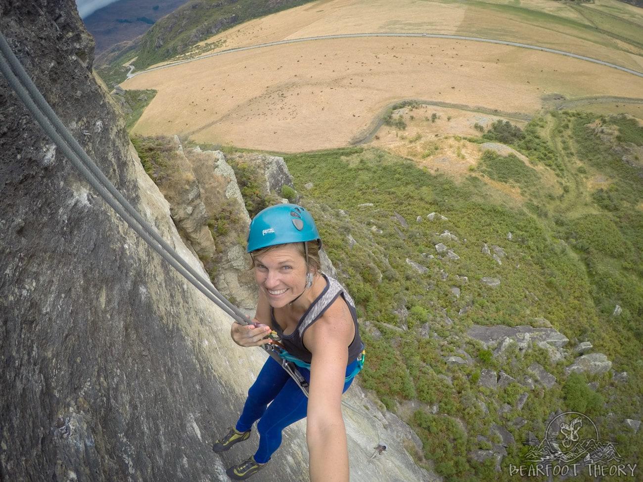 Climbing at Hospital Flats near Wanaka, New Zealand