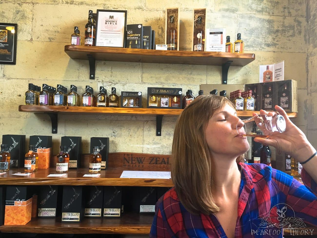 The New Zealand Whiskey Company 4 flight tasting in Oamaru, New Zealand