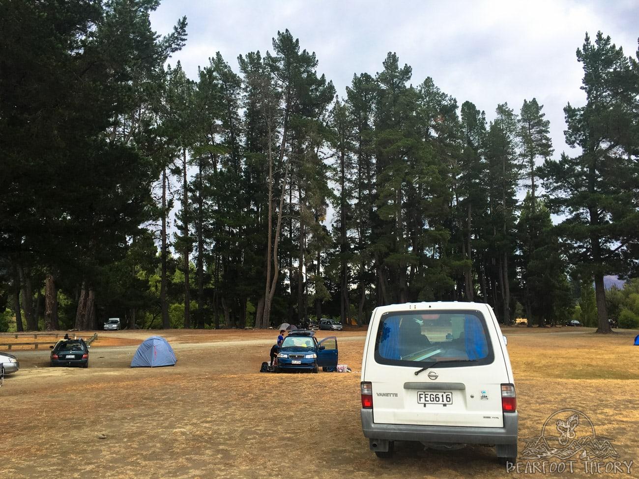 Camping at Albert Town in Wanaka, New Zealand