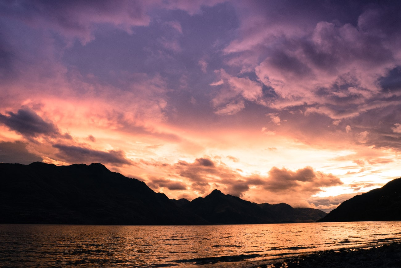 Queenstown sunset