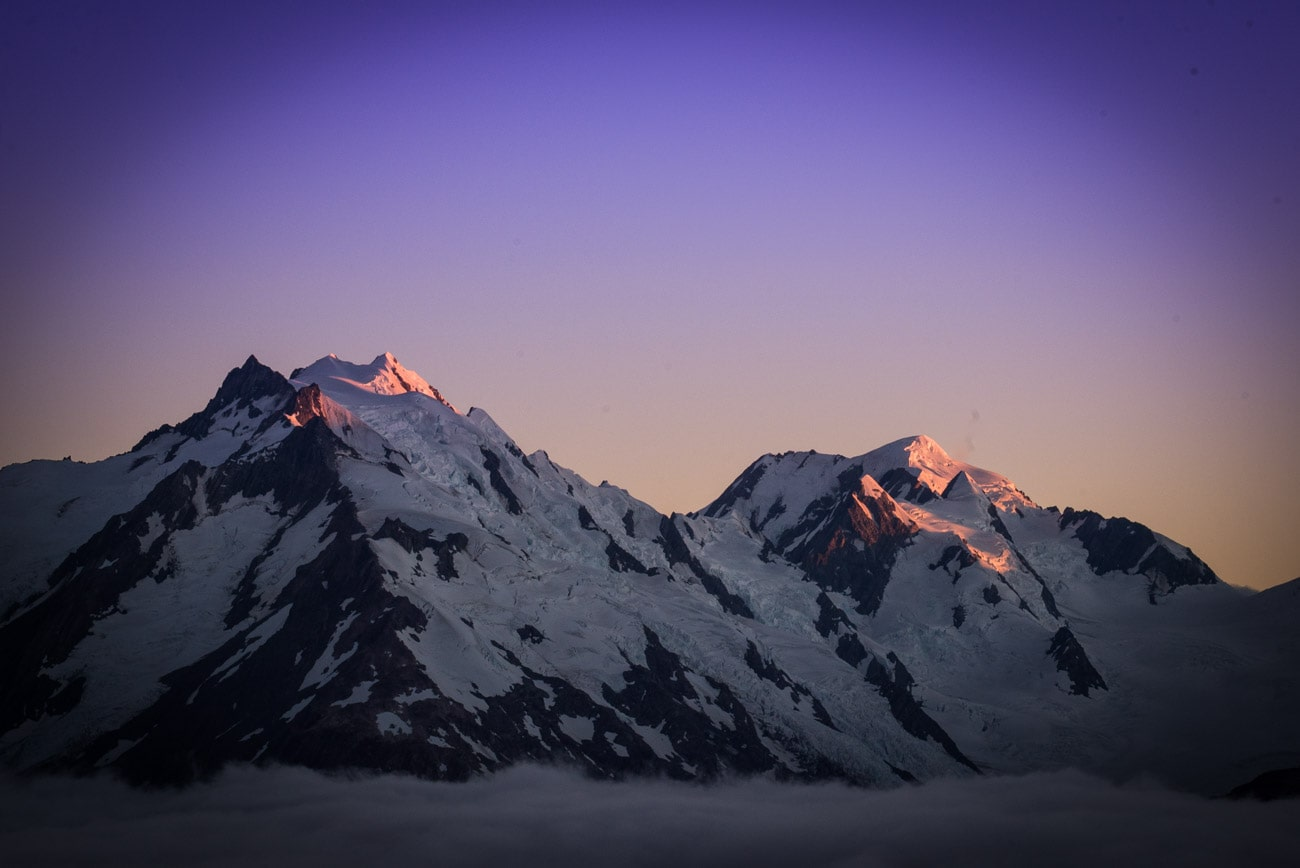 The view from the Caroline Hut in Mount Cook