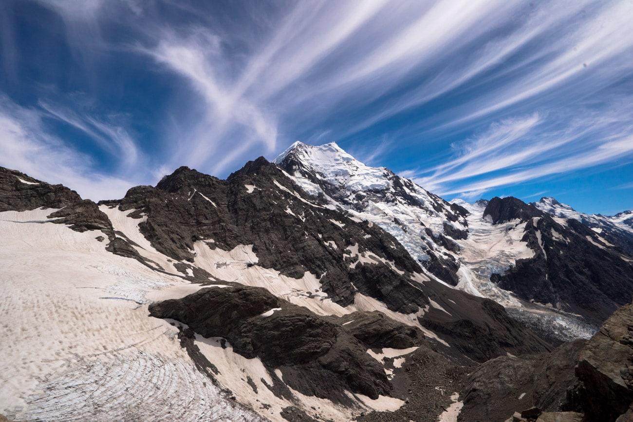Mount Cook, the tallest peak in New Zealand