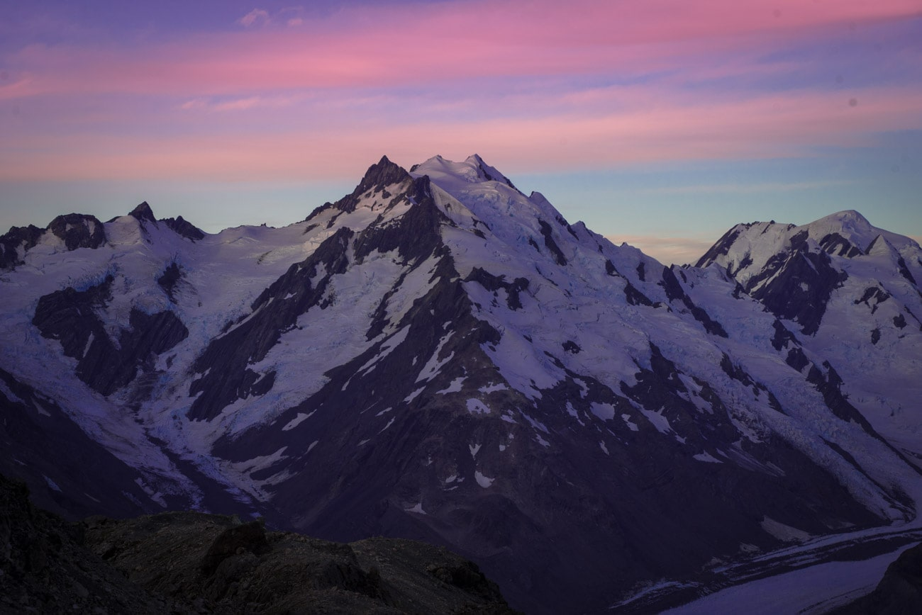 The view from the Caroline Hut in Mount Cook National Park